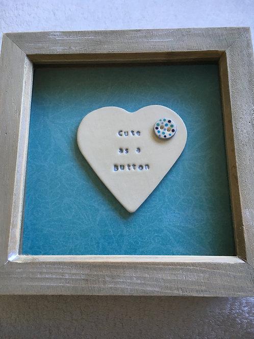 Cute as a Button Small Frame