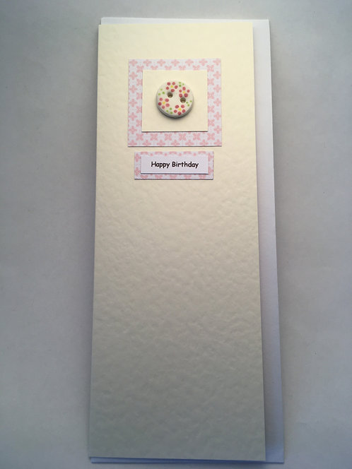 Button Happy Birthday Card