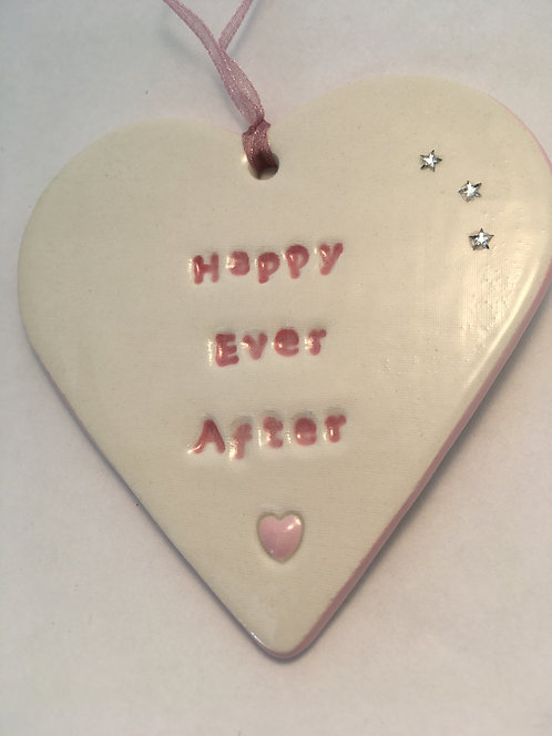 Happy Ever After Heart Hanger