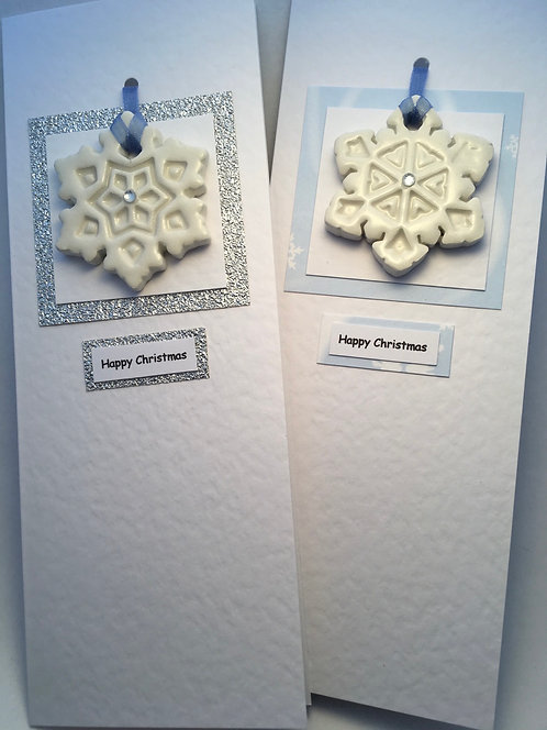 Christmas Snowflake Card with decoration