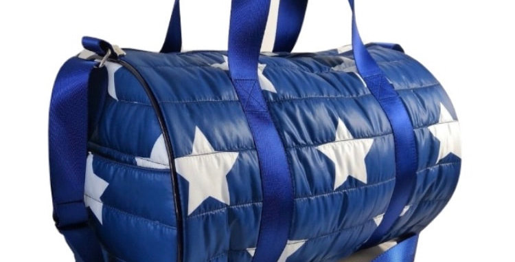 Navy Puffer Duffle