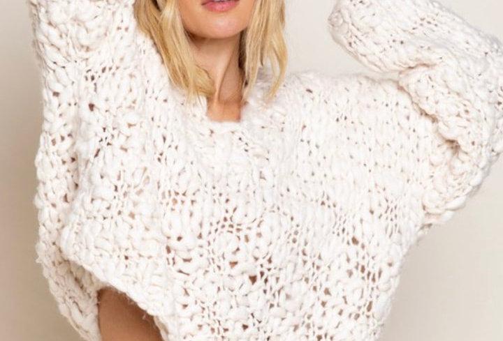 Soft Ivory V Sweater