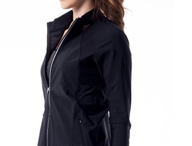 Black Windbreak running jacket