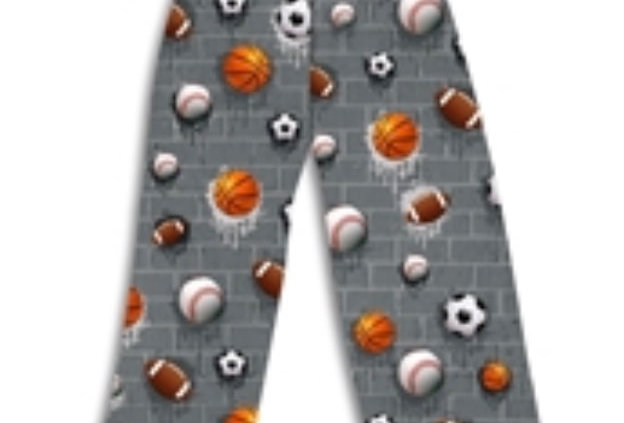 Sports theme cozy pants