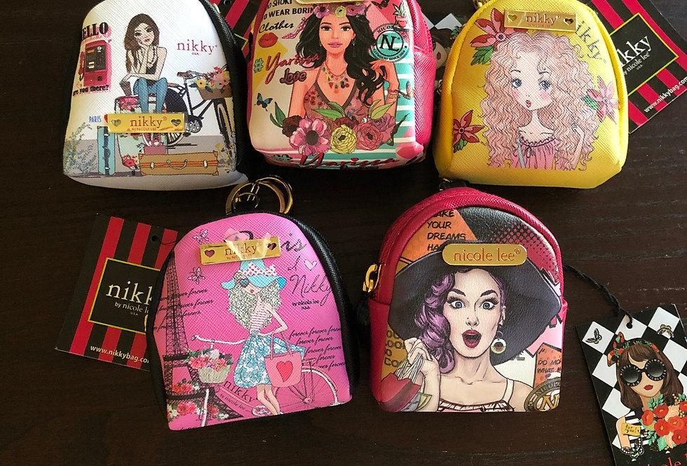 Nicole Lee Mini Backpack Keychains
