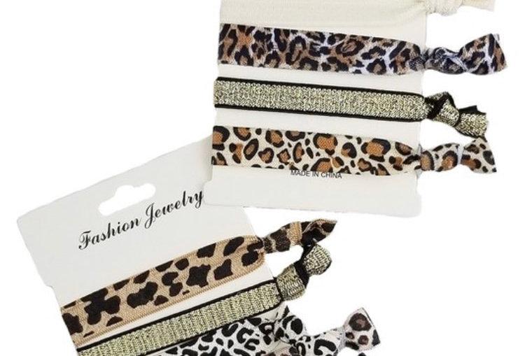 Animal Print Hairties