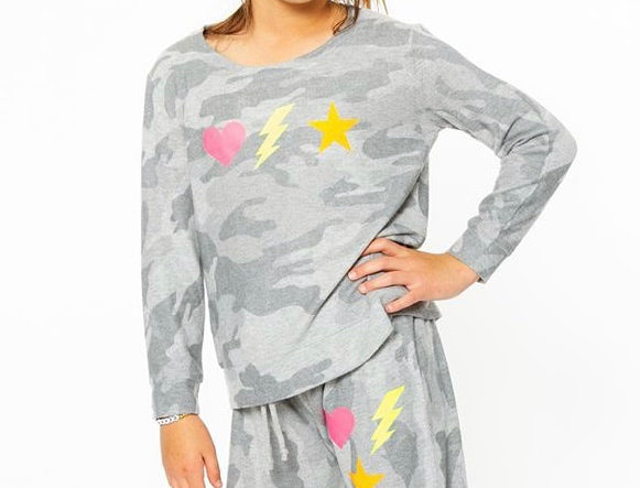 Gray with Icons Loungewear Set