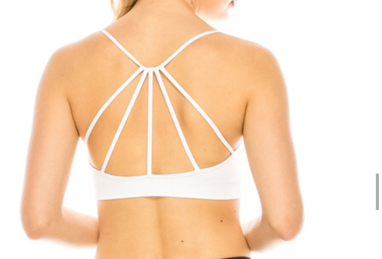 Caged back double layered sports bra