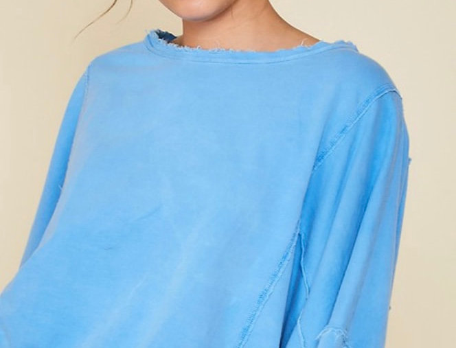 Cotton Thread Dyed Knit Top