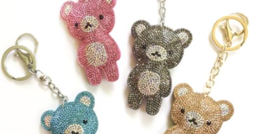 Crystal Teddy Bear Keychain
