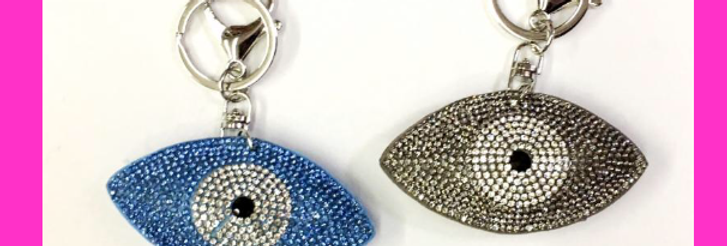 Crystal Evil Eye Keychain