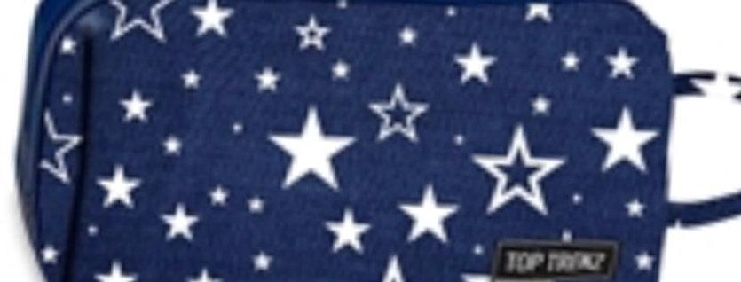 Navy Puffer Cosmetic Bag