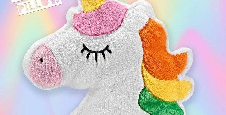 Large Furry Unicorn Pillow