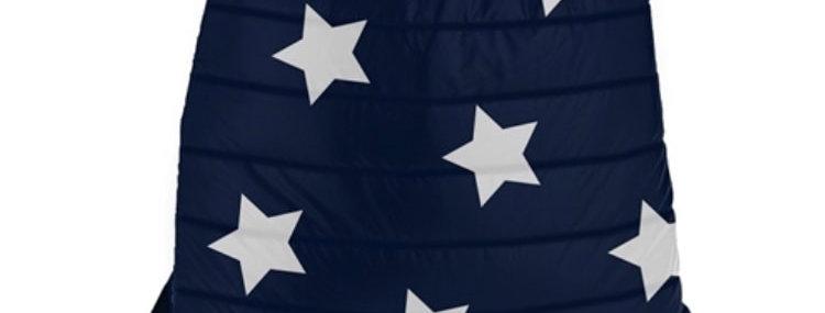 Navy Puffer Sling Backpack