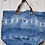 Thumbnail: Blue Denim Tie Dye Tote with Leather Handles