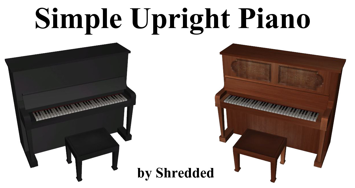 Simple Upright Piano