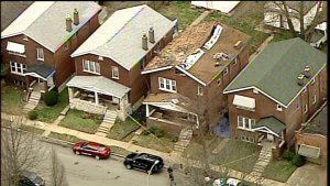 Roof collapses during replacement job on south St. Louis home