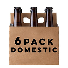 6 PACK DOMESTIC BEER