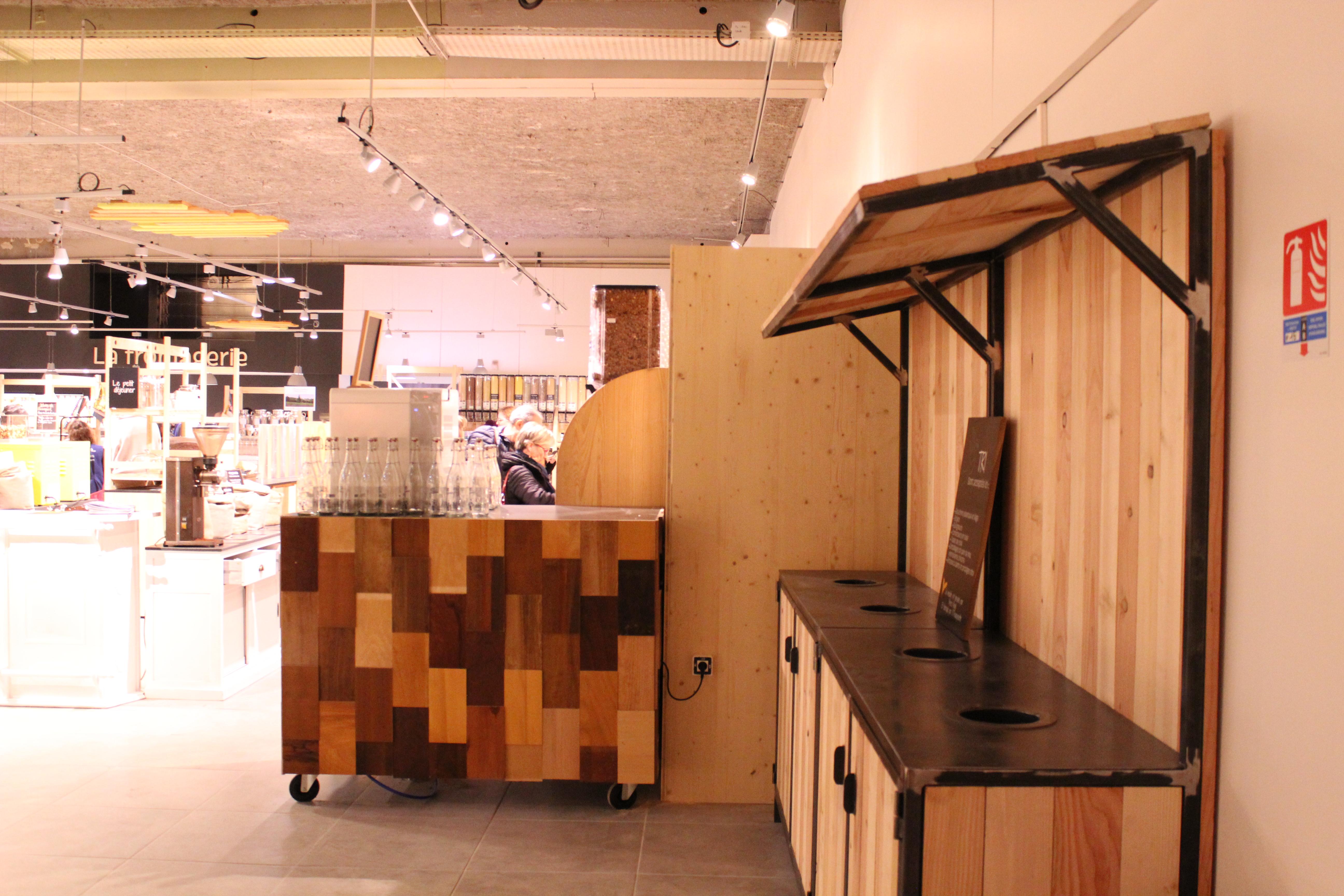Aménagement boutique - Atelier Emmaüs
