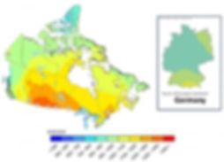 solar irradiance map canada