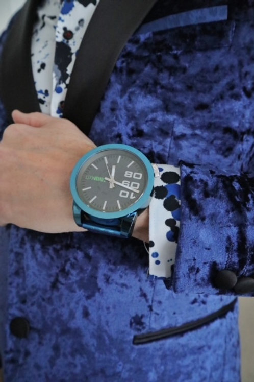 Metallic Blue Watch