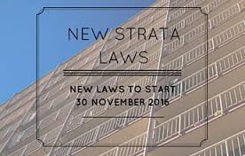 New Strata Laws Commence on 30 November 2016