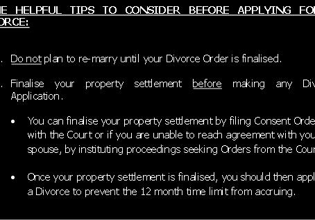 Applying For A Divorce