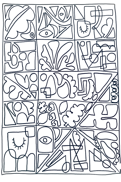 Abstract doodle (print at home PDF)