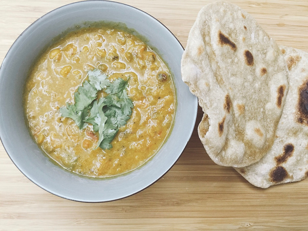 dhal and chapati