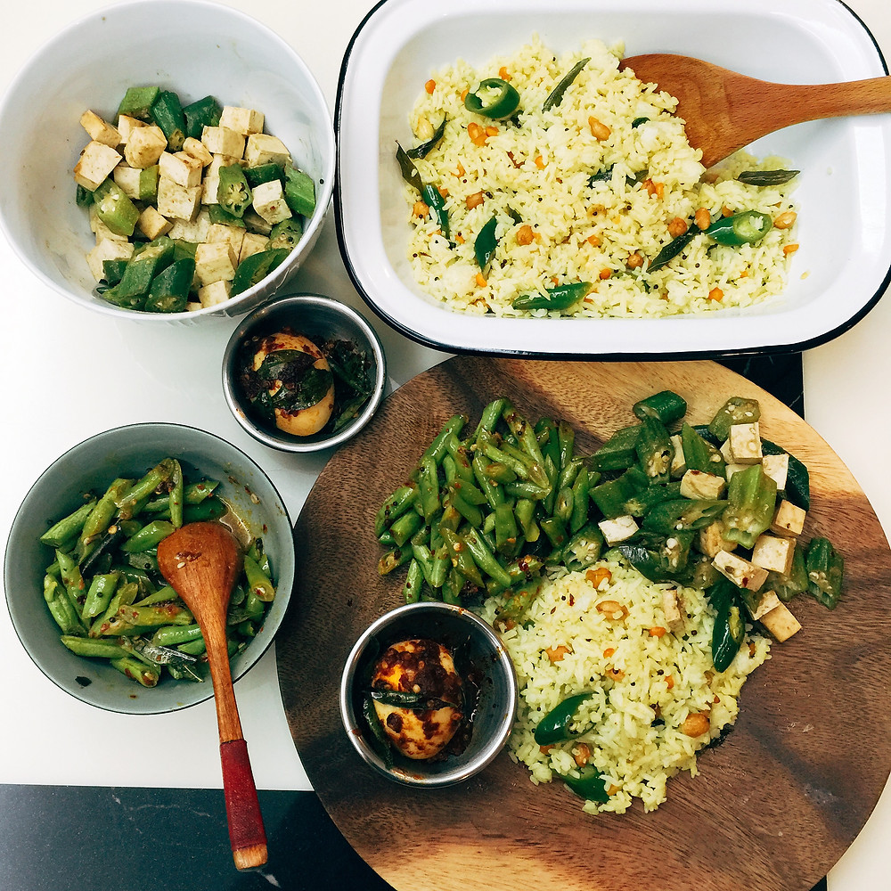 Lemon Rice and Mini Thali