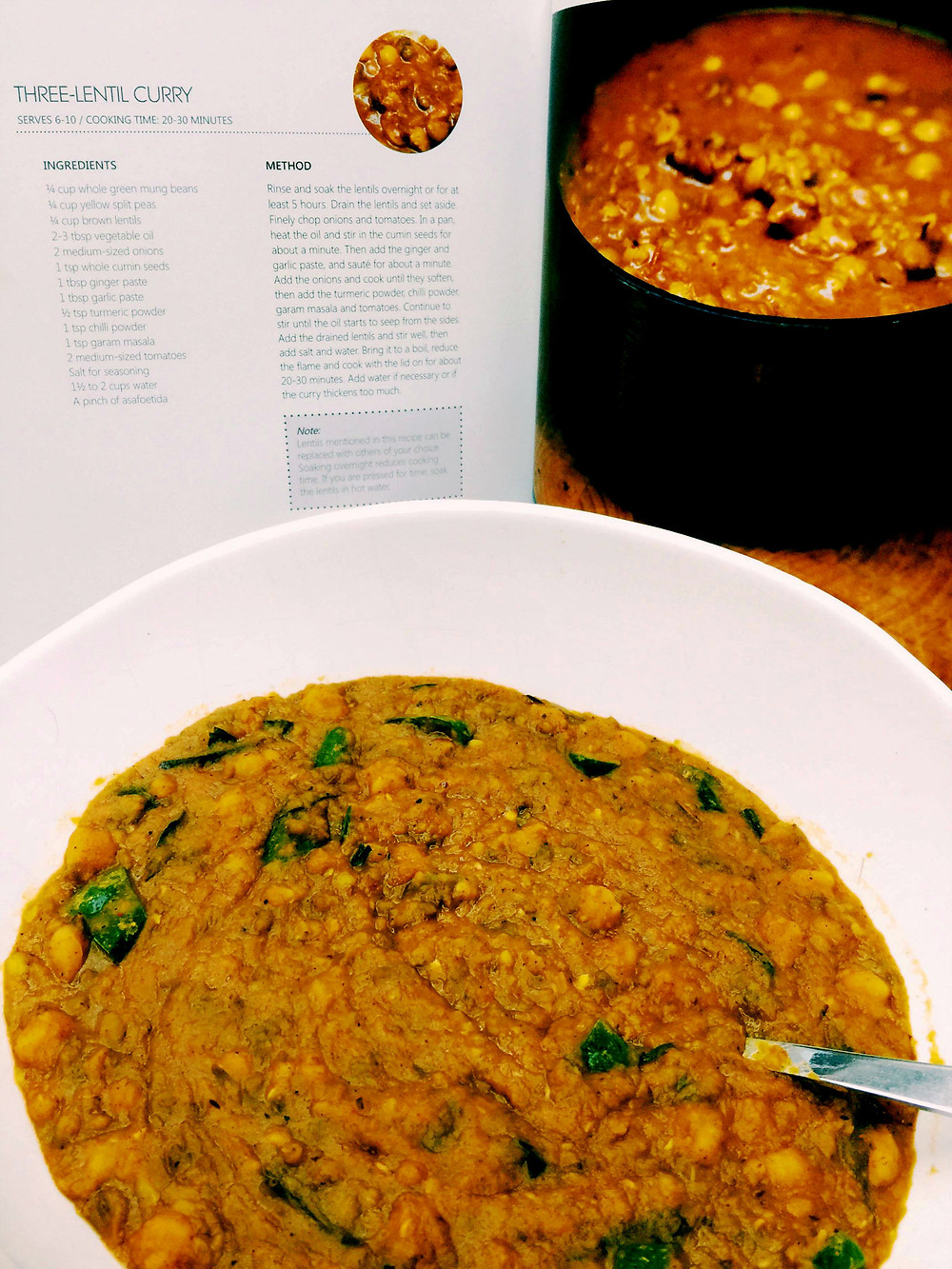 Three Lentil Curry by Sapna Anand