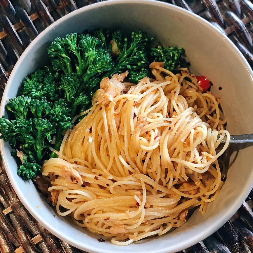 5 minutes Szechuan Tuna Pasta