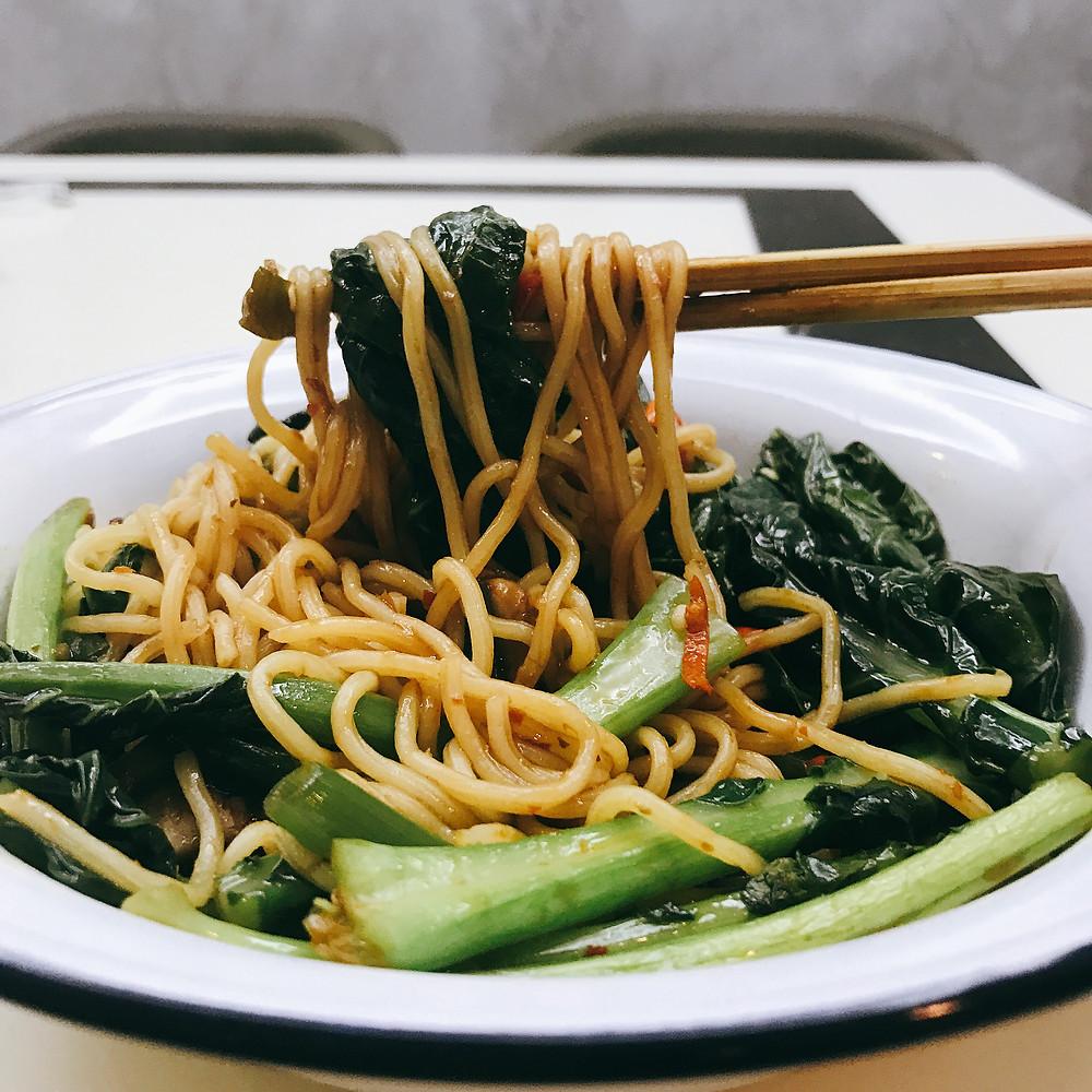 Meatless Drunken Vege Noodles