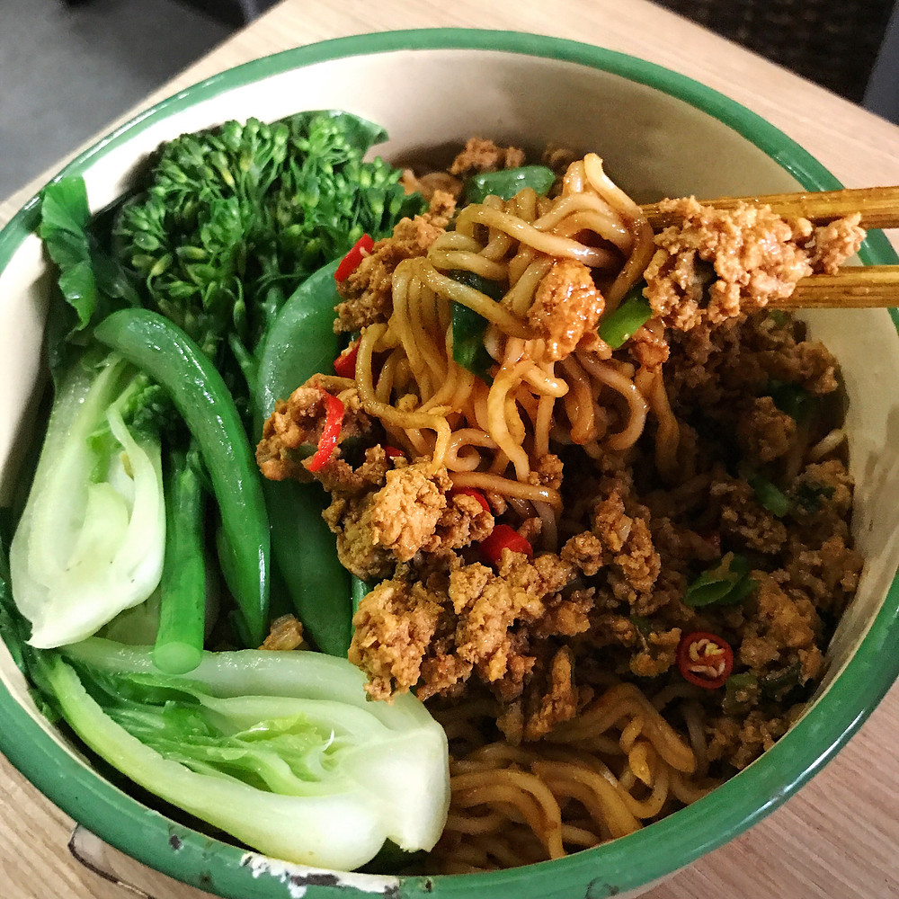 Minced Chicken Noodles