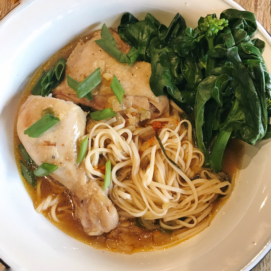 Silken Chicken Soup Noodle