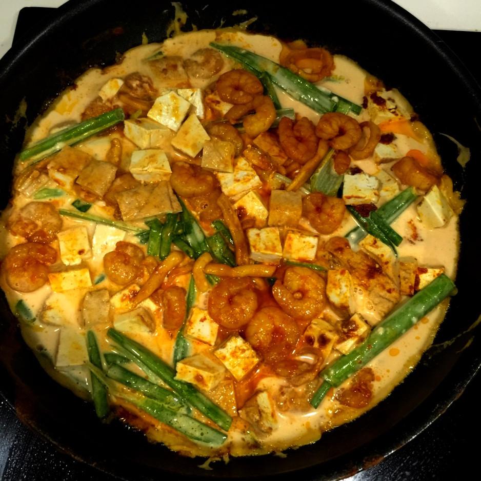 Sambal Seafood Pajeon (Korean Pancake) of the most unconventional kind