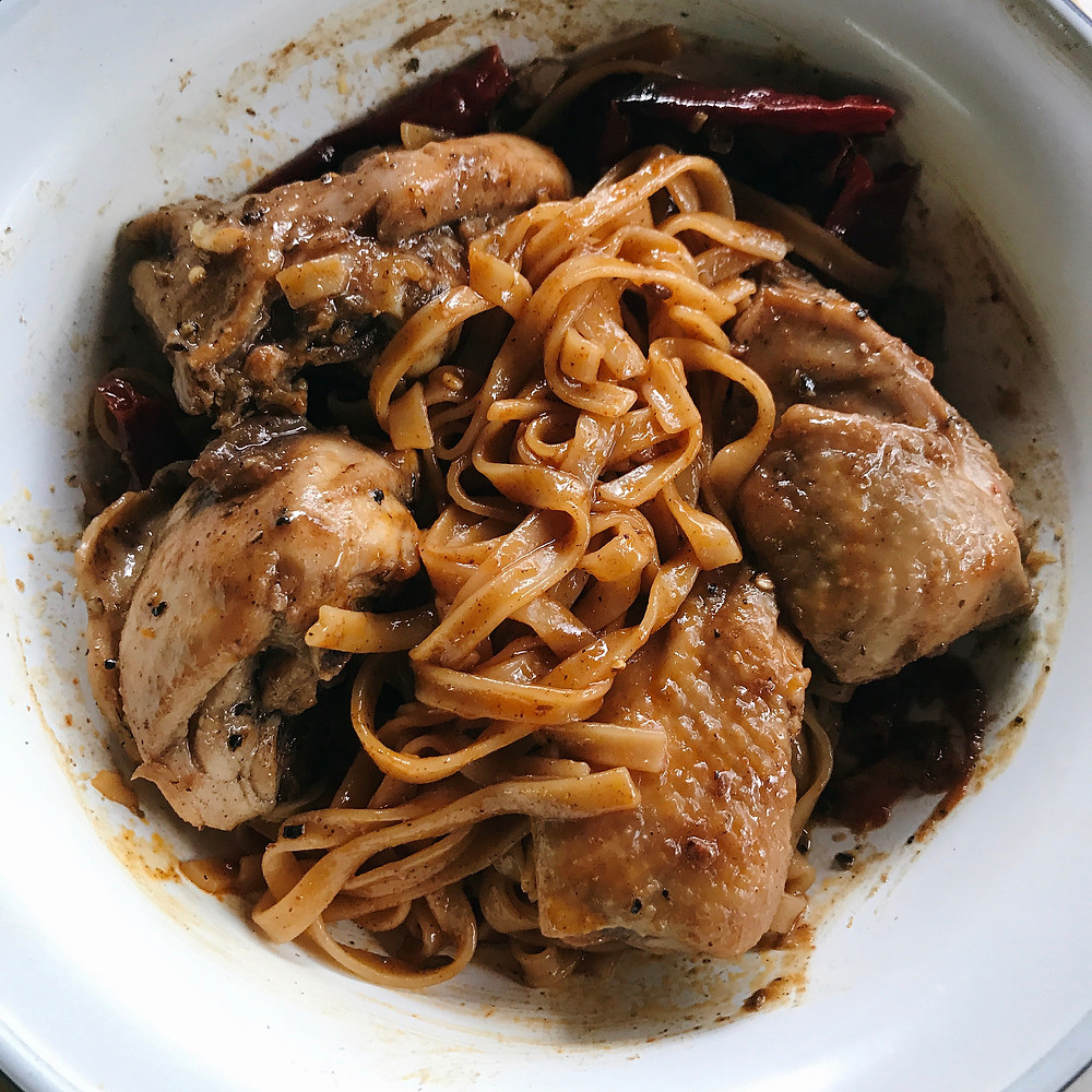 Imperfect Pepper Chicken Noodles
