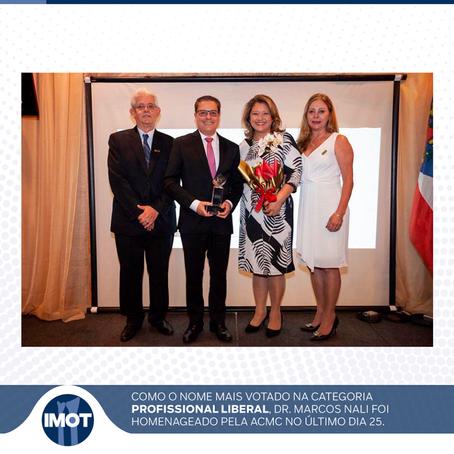 Dr. Marcos Nali foi homenageado pela ACMC - Associação Comercial de Mogi das Cruzes
