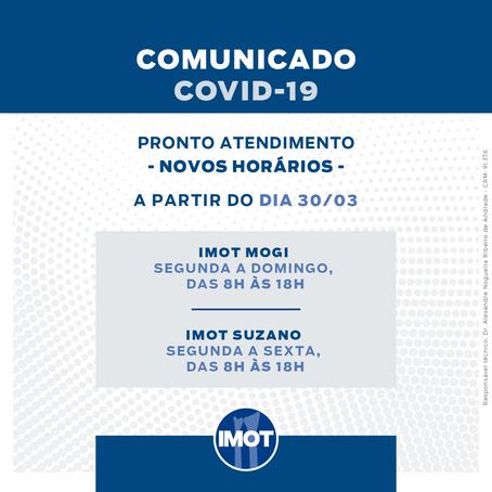 Comunicado COVID-19: