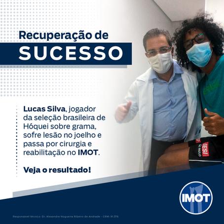 Lucas Silva, jogador de Hóquei sobre grama, sofre lesão no joelho e passa por cirurgia no IMOT