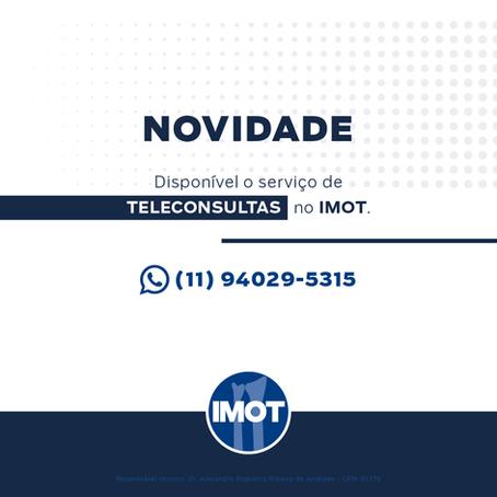 Novidade! Disponível teleconsultas no Imot.