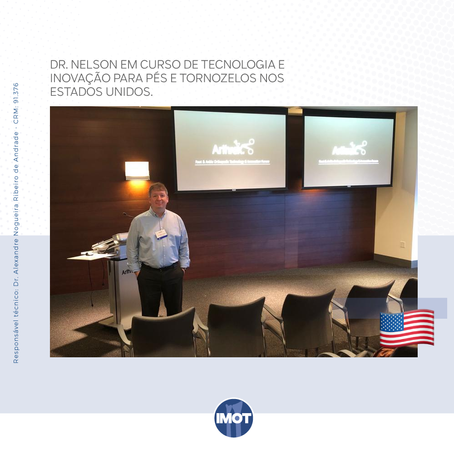 Dr. Nelson, do Imot, participa do curso Foot and Ankle Orthopedic - Technology and Innovation Forum