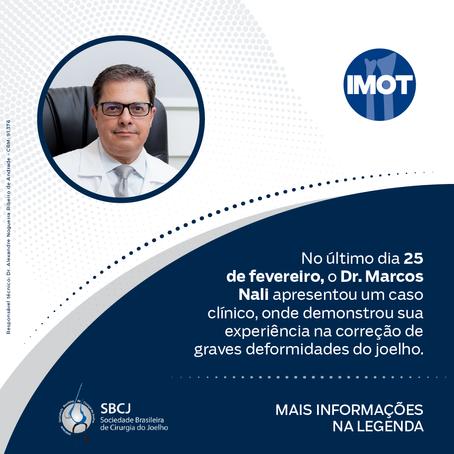 Dr. Marcos Nali, apresentou um caso clínico na reunião científica da SBCJ