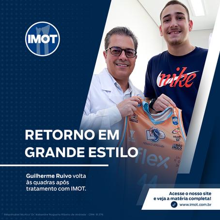 Guilherme Ruivo volta às quadras após tratamento com IMOT