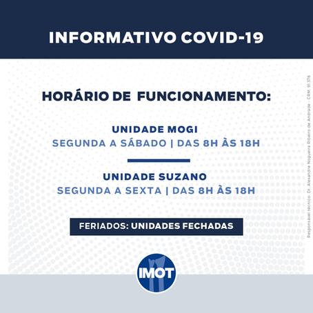 Atualizações COVID-19: Horário de Funcionamento