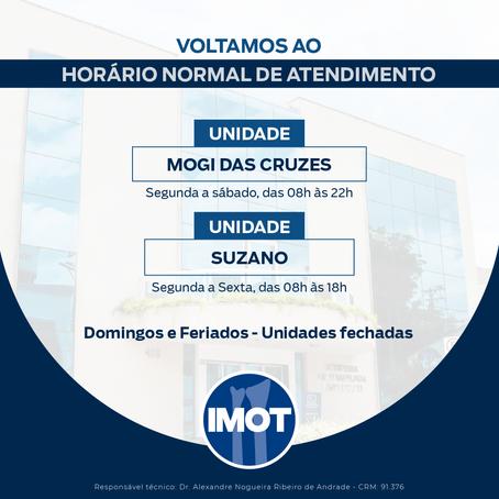 VOLTAMOS AO HORÁRIO NORMAL DE ATENDIMENTO