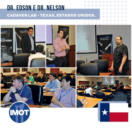 Dr. Edson e Dr. Nelson participam de Cadaver Lab em Texas, nos Estados Unidos.