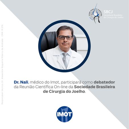 Dr. Nali será debatedor da Reunião Científica On-line da Sociedade Brasileira de Cirurgia do Joelho