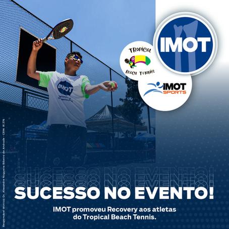 IMOT promoveu Recovery aos atletas do Tropical Beach Tennis.
