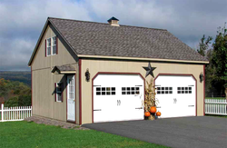 amish built sheds - two story sheds for sale pa